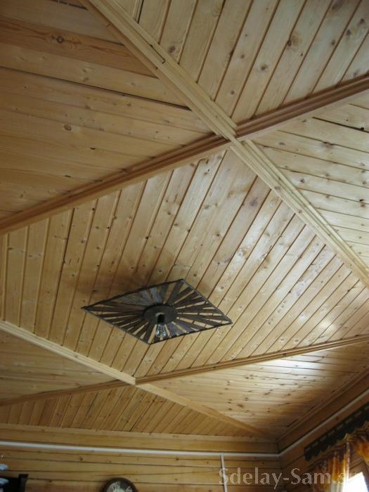 потолок из вагонки рисунок