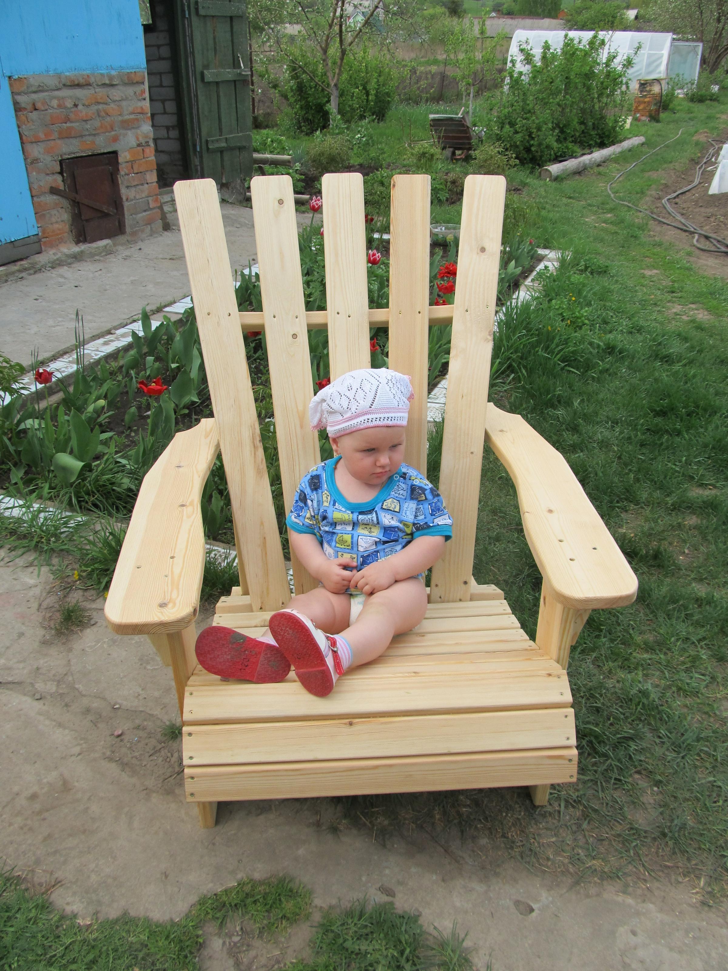 Деревянная стул своими руками