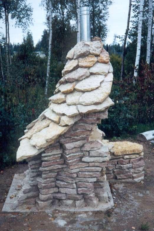 Как сделать мангал из природного камня своими руками