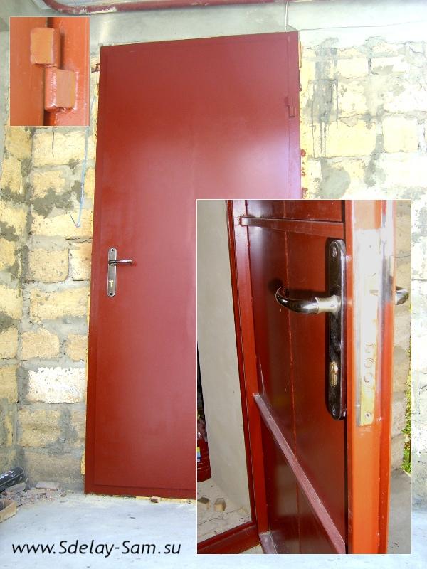 Как сделать дверь железную входную