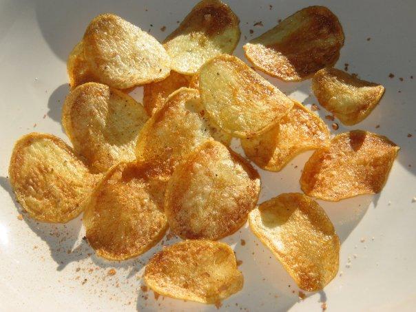 Домашний чипсов в микроволновке