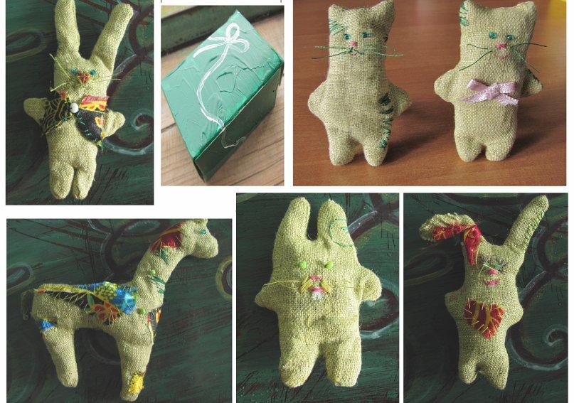 164Оригинальные игрушки из ткани