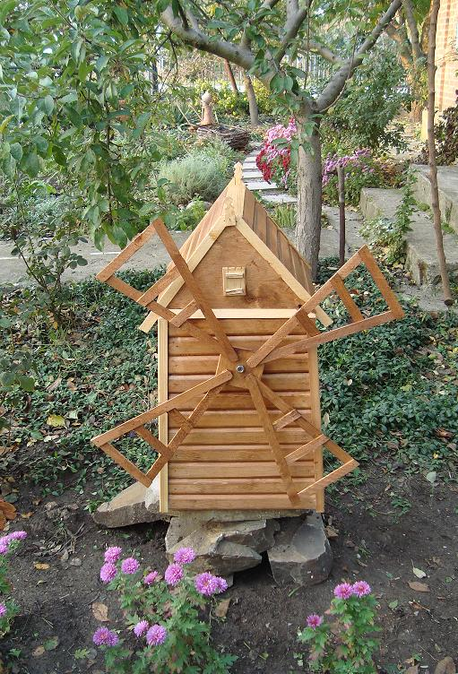 Как сделать мельницу своими руками для сада фото