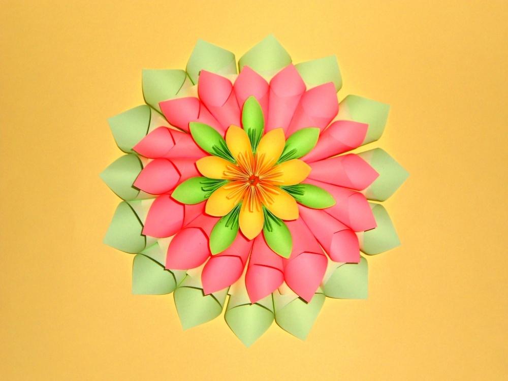 Как сделать поделку цветы из бумаги