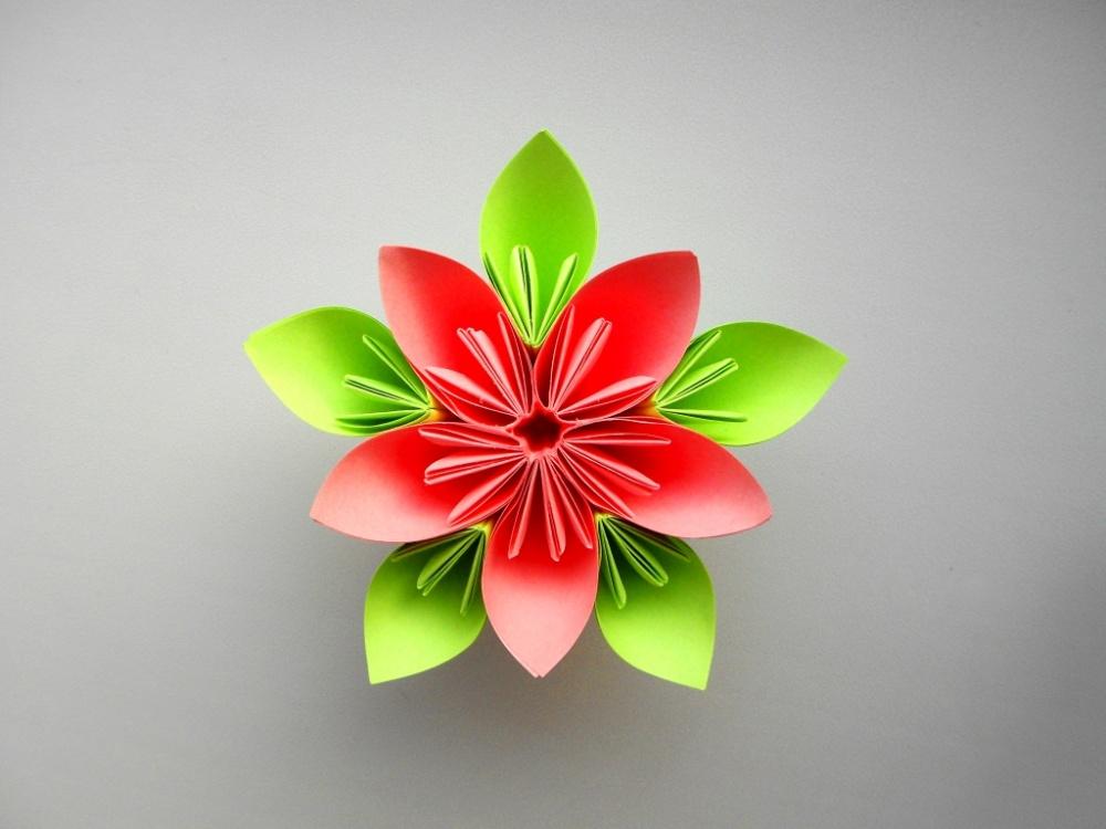 Открытка, модульное оригами открытки к 8 марта