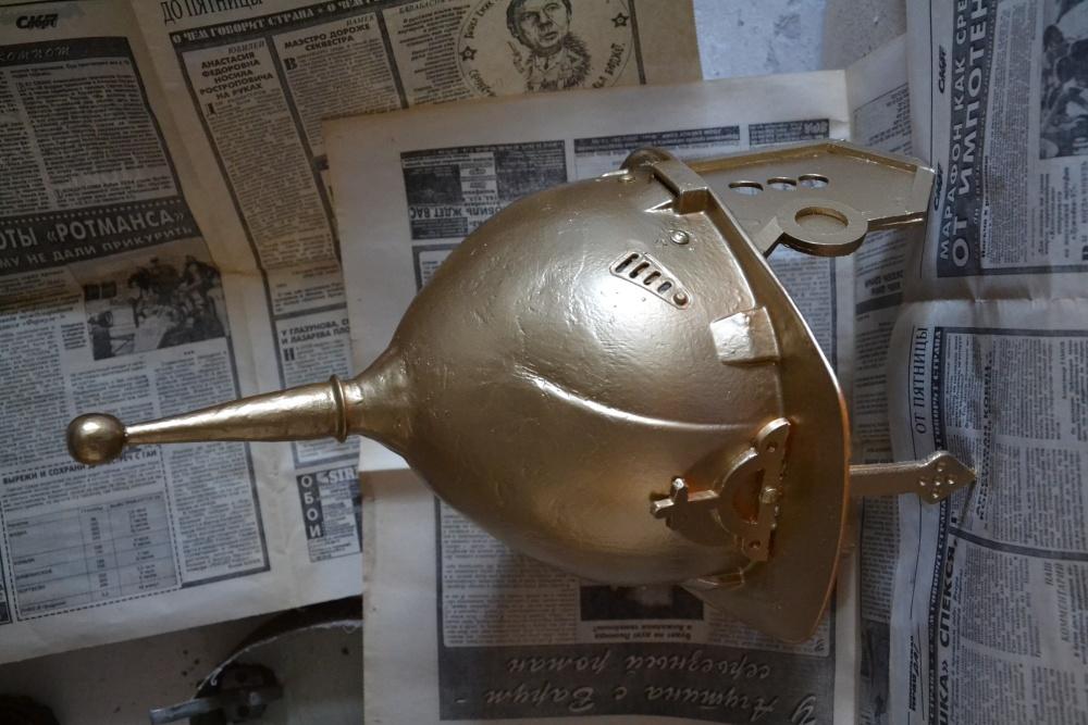 Богатырский шлем из бумаги как сделать