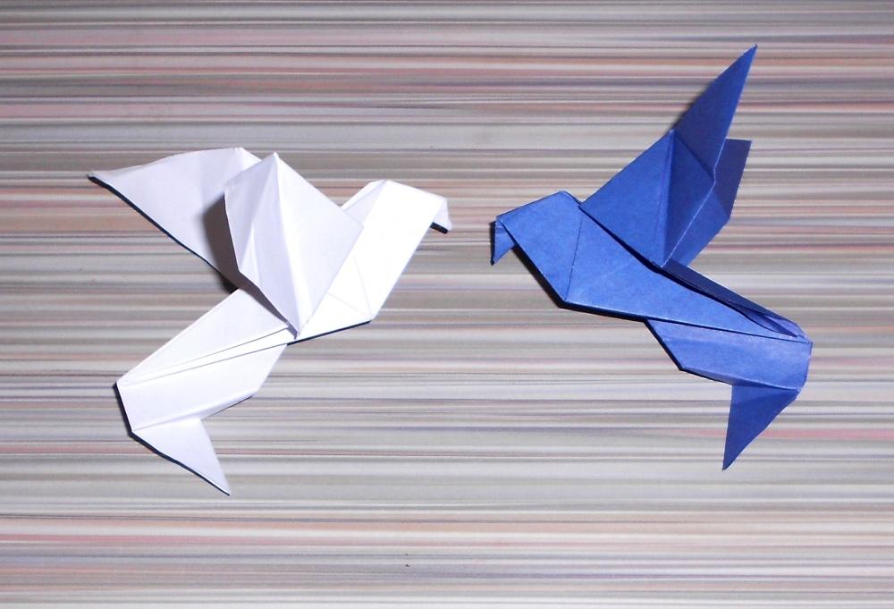 Как оригами сделать голубя мира из 899