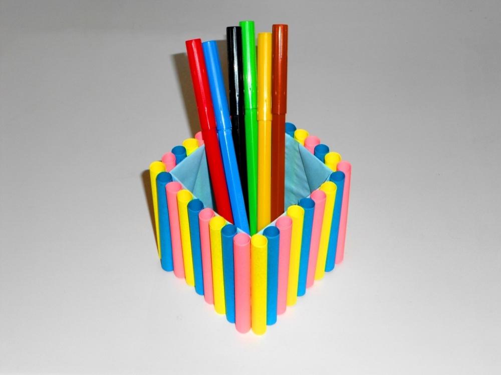 Карандашница из карандашей своими руками из 68