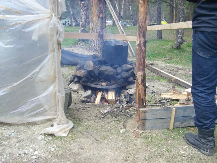 Как сделать баню в походных условиях