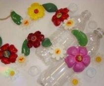 Подеки из пластиковых бутылок, украшения, бусы