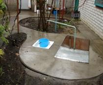 Обустройство территории у водопроводного крана.