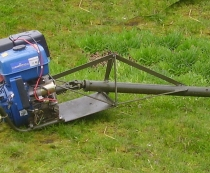Общий вид подвесного лодочного мотора болотохода