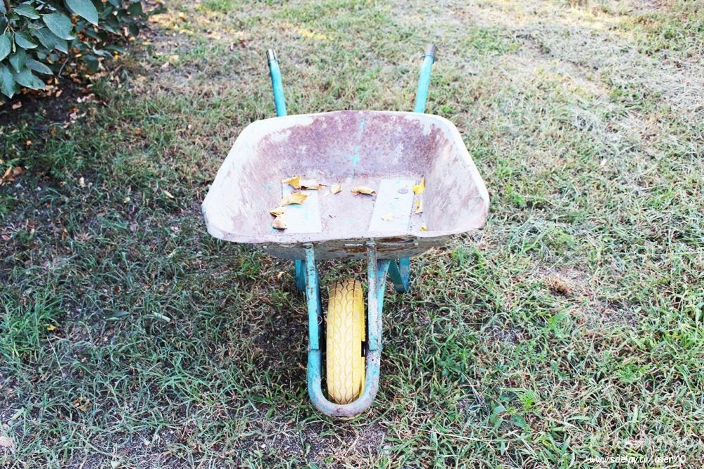 Садовая тачка на прокачку или где взять колесо непробивайку?