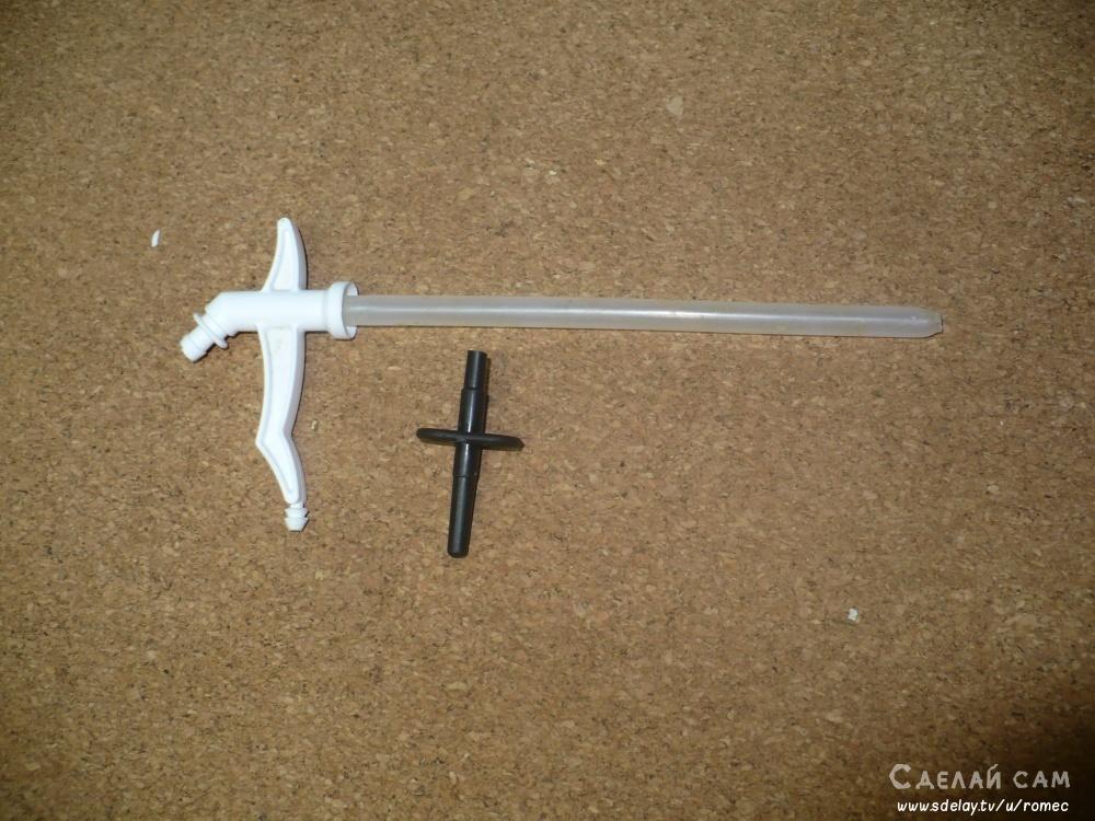 Универсальный пистолет для монтажной пены своими руками