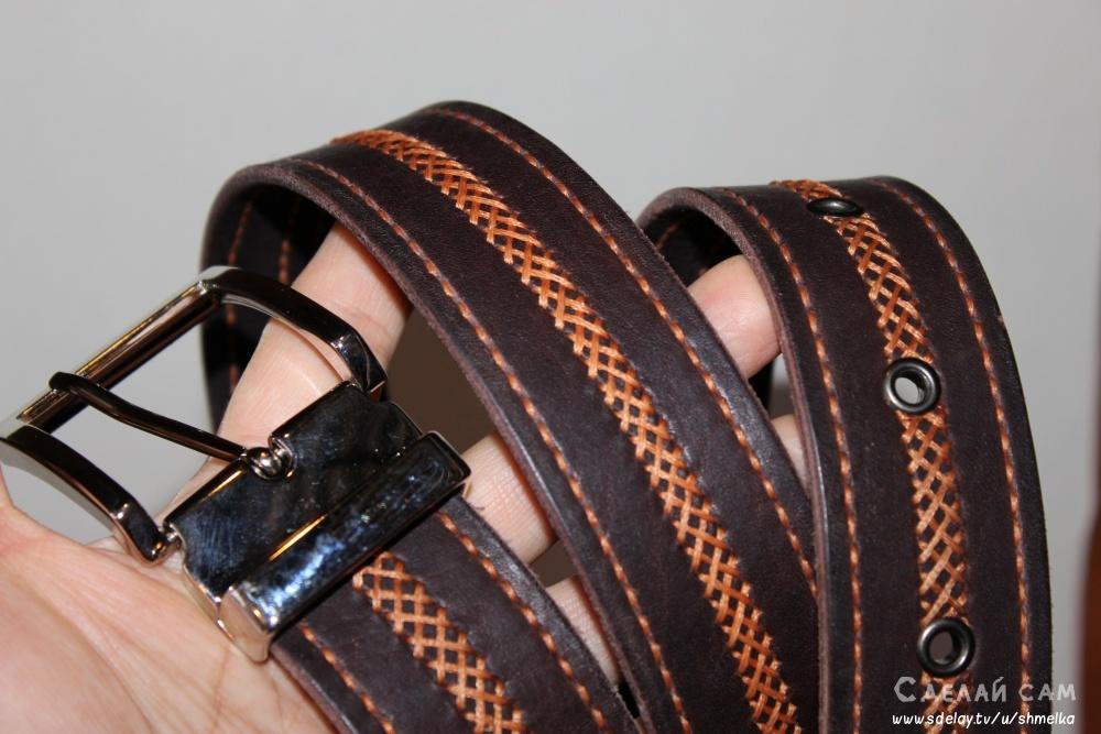 Украшаем кожаный ремень своими руками 22