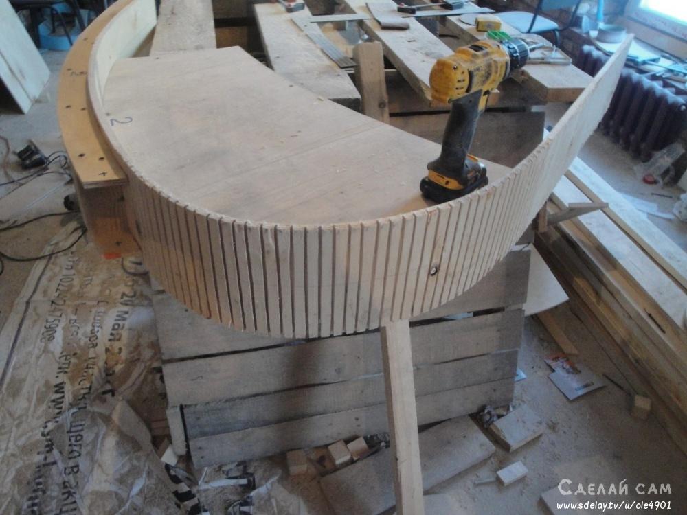 Винтовая лестница из бетона своими руками