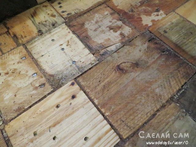 Пол из деревянных поддонов своими руками