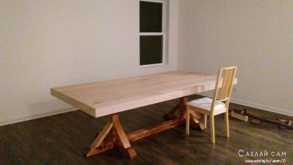 Большой деревянный стол своими руками