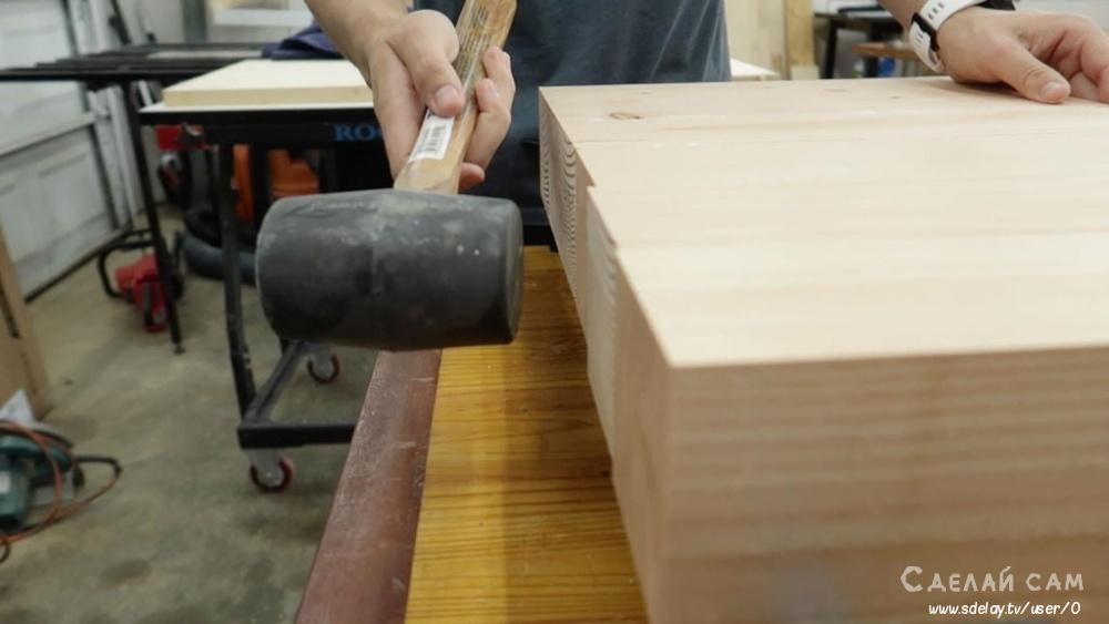 Журнальный столик открытого типа из дерева своими руками