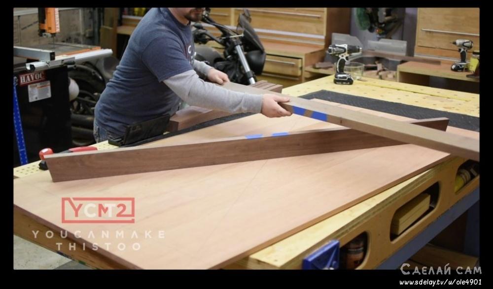 Деревянный стол в стиле модерн своими руками