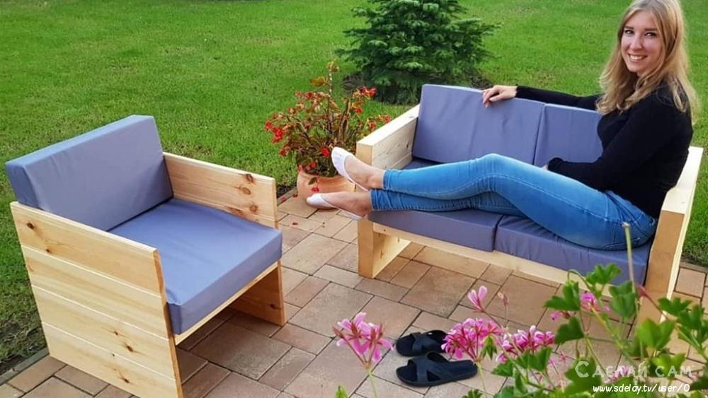 Садовый диван своими руками