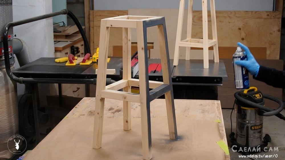 Деревянный стул для бара своими руками