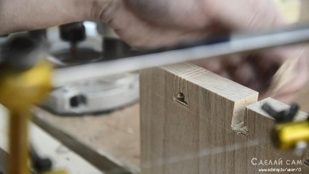 Деревянная прикроватная тумбочка своими руками