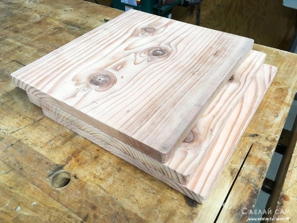 Прикроватная тумбочка из металла и дерева в стиле LOFT