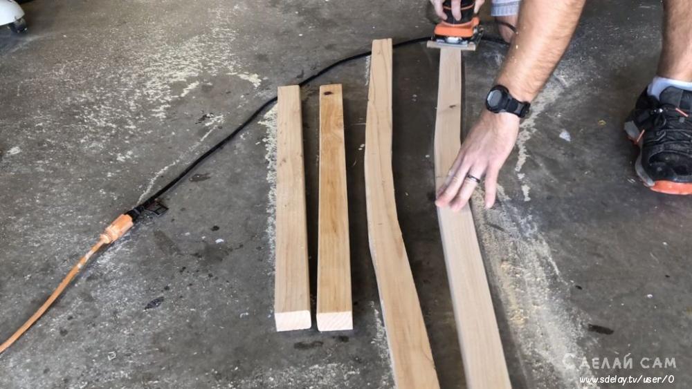 Высокий стул из дерева своими руками