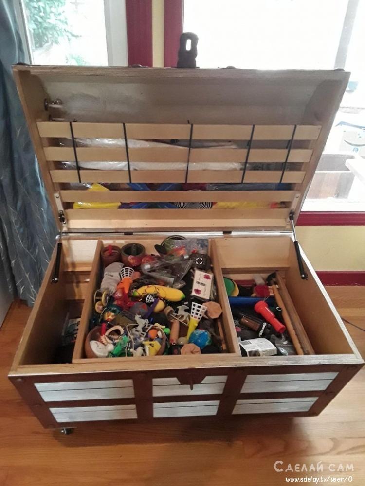 Сундук для игрушек своими руками