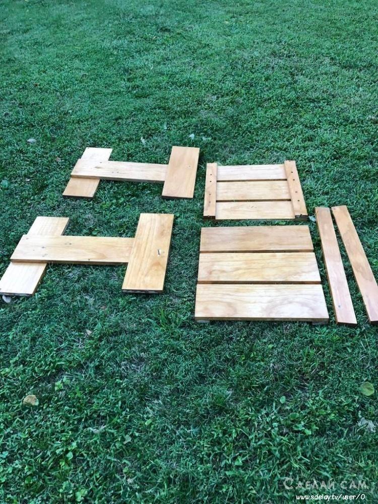 Садовые кресла из дерева своими руками