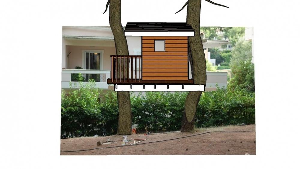 Дом на двух деревьях своими руками