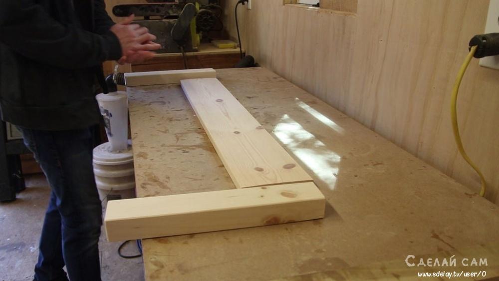 Одинарная кровать из дерева своими руками