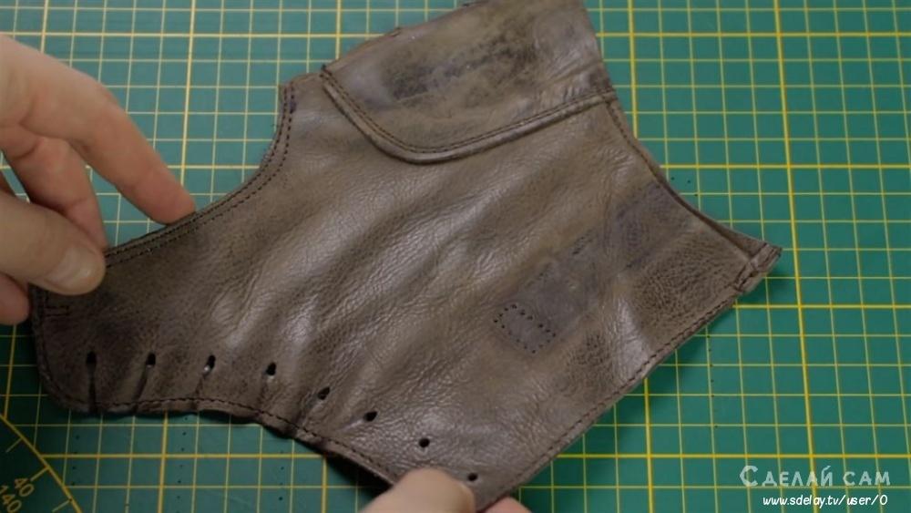 Кожаный карт-холдер из старых ботинок своими руками