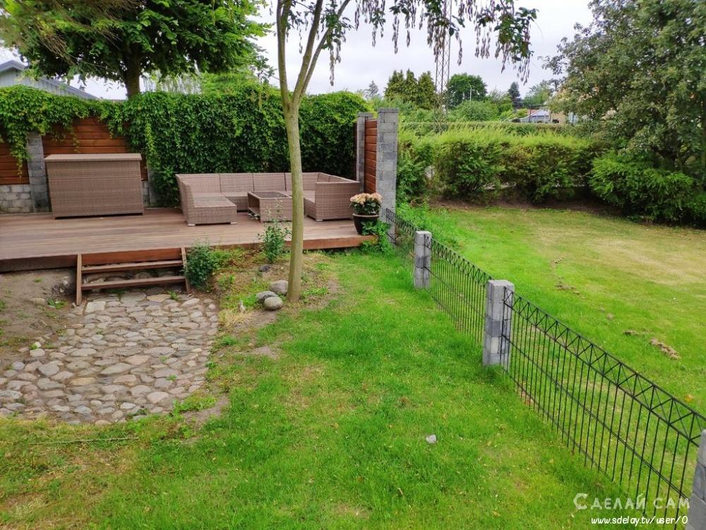 Патио в саду своими руками