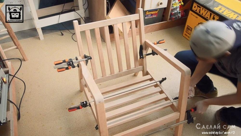 Кресло-диван в стиле модерн своими руками