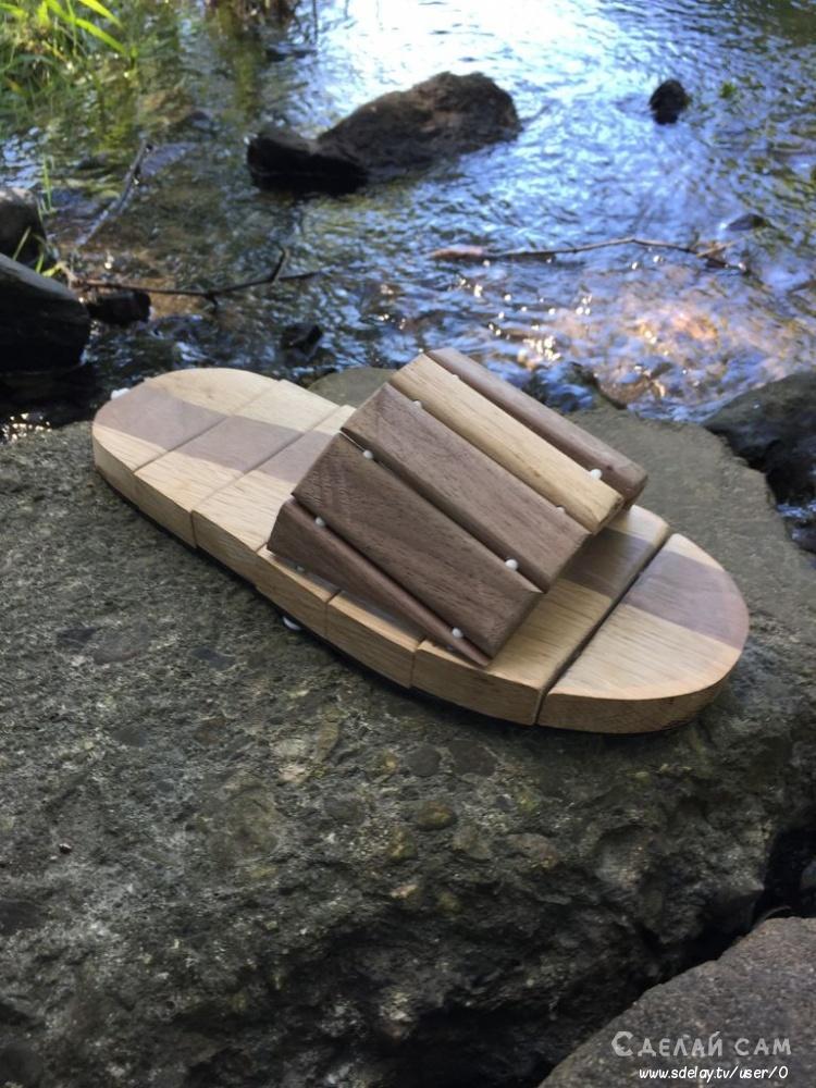Деревянные тапочки для дома своими руками