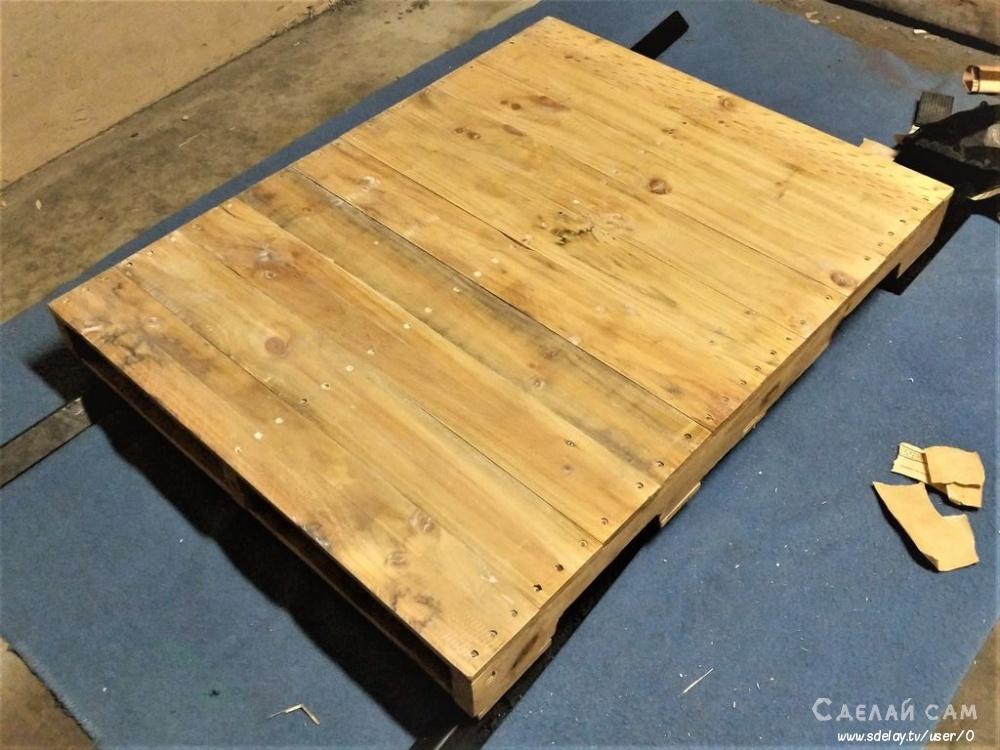 Кофейный столик из деревянного поддона за 1 час