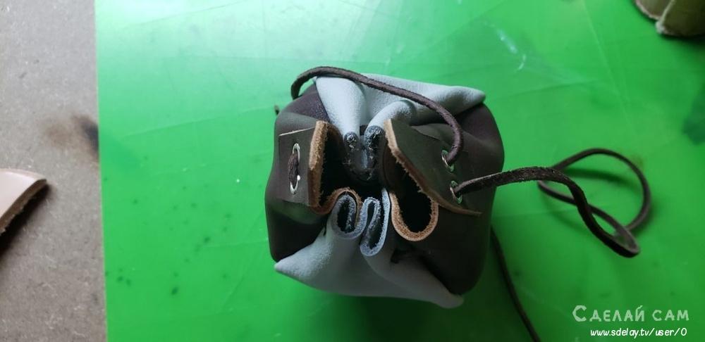 Кожаный мешочек для монет своими руками