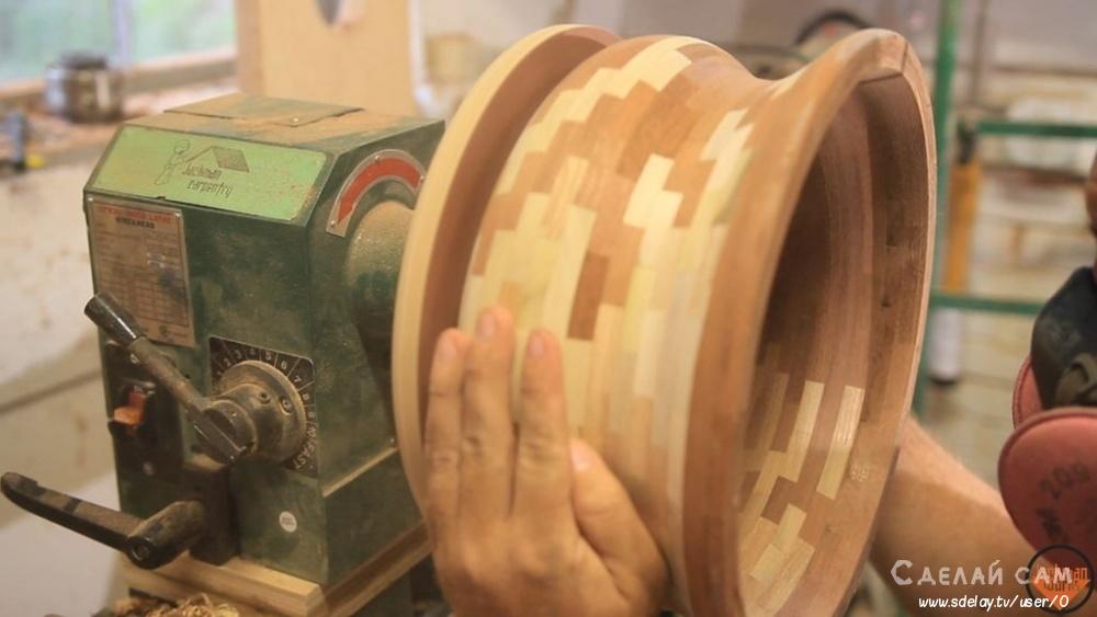 Деревянная ваза из сегментов дерева своими руками