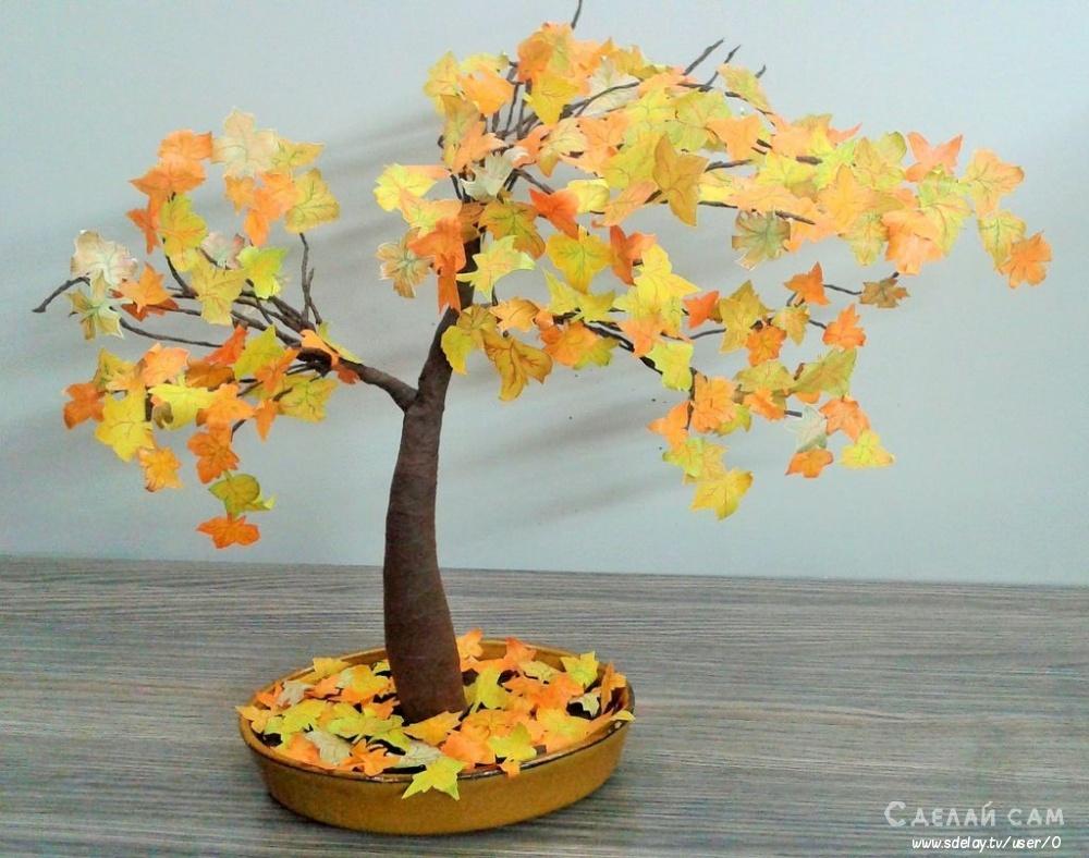 Осеннее дерево из бумаги своими руками