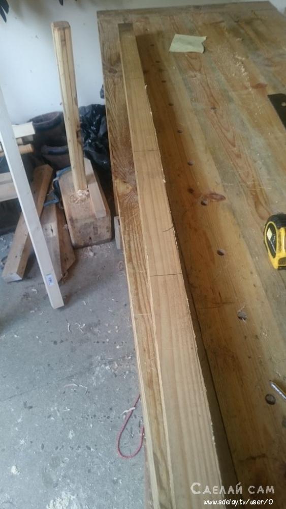 Деревянный вазон из паллет своими руками
