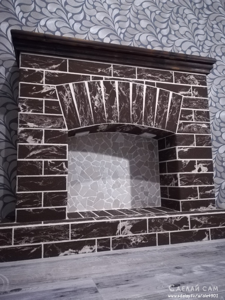 Декоративный камин из металлического профиля