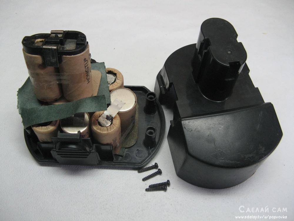 Переделка аккумулятора шуруповерта на li-ion.