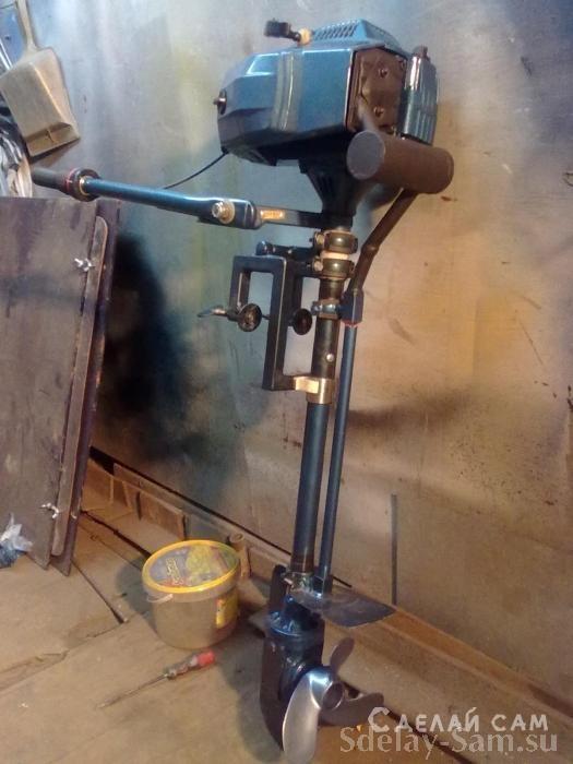 Как сделать лодочному мотор из бензопилы 303