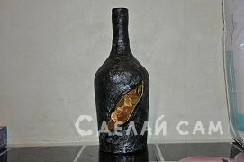Декоративная бутылка - денежный талисман