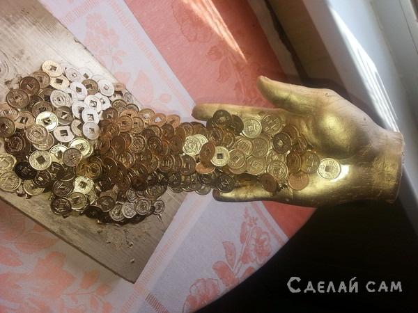 рука 3D из гипса