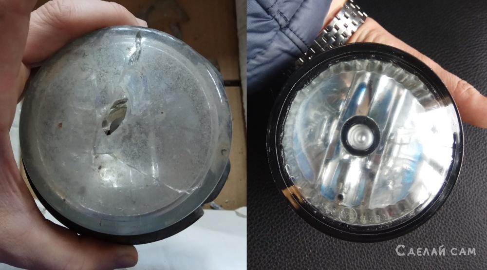 Замена линзы (стекла) противотуманки на Subaru Forester
