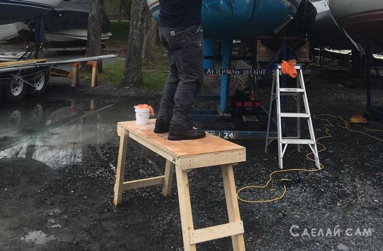 Раскладной столик-подставка своими руками
