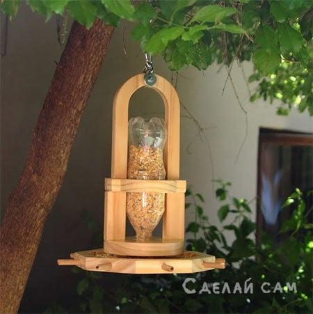 Деревянная кормушка для птиц своими руками